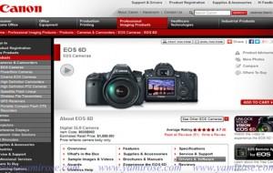 อัพเดต Firmware กล้อง Canon EOS 6D