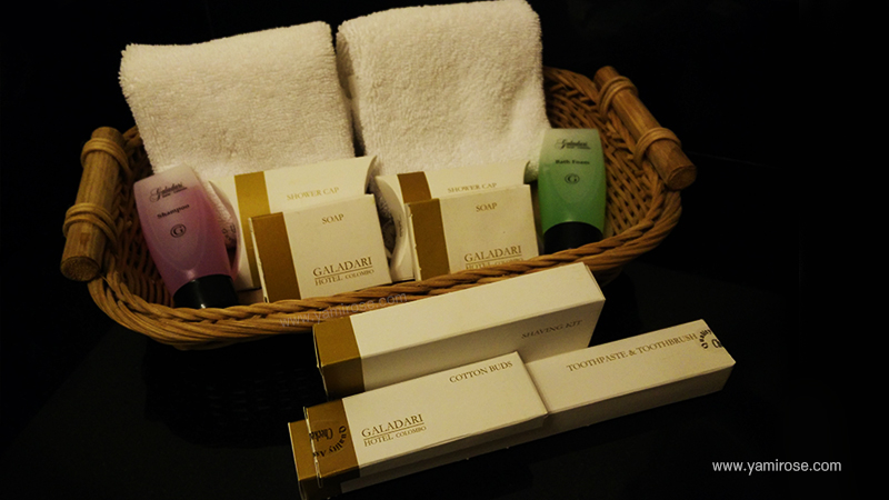 Hotel Galadari Colombo Toiletries
